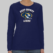 EC Lions - Heavy Cotton™ Ladies' 5.3 oz. Missy Fit Long-Sleeve T-Shirt