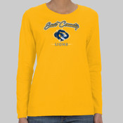 EC Script Lion - Heavy Cotton™ Ladies' 5.3 oz. Missy Fit Long-Sleeve T-Shirt